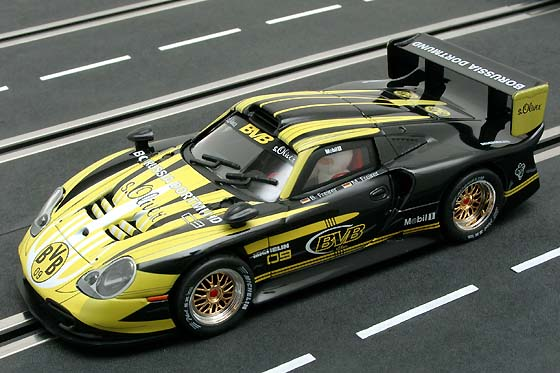carrera showroom fly porsche 911 gt1 evo bvb. Black Bedroom Furniture Sets. Home Design Ideas