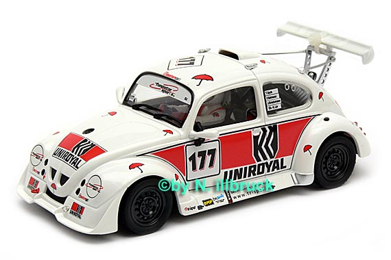 carrera showroom 08386 revell uniroyal fun cup car vw kaefer weiss. Black Bedroom Furniture Sets. Home Design Ideas